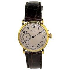 Breguet Yellow Gold Pin Set Manual Wind Watch