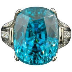 Krementz Blue Zircon Ring