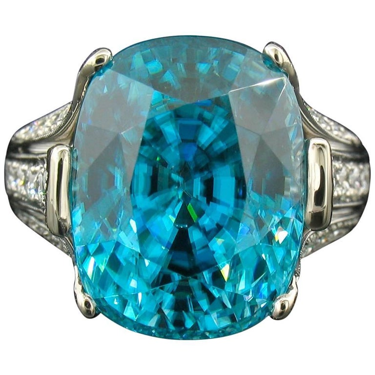 Krementz Blue Zircon Ring For Sale
