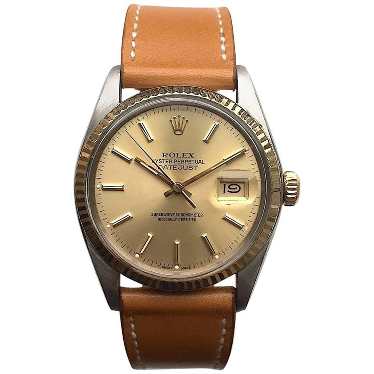 Rolex Steel and Gold Oyster Perpetual Datejust Watch, 1970s