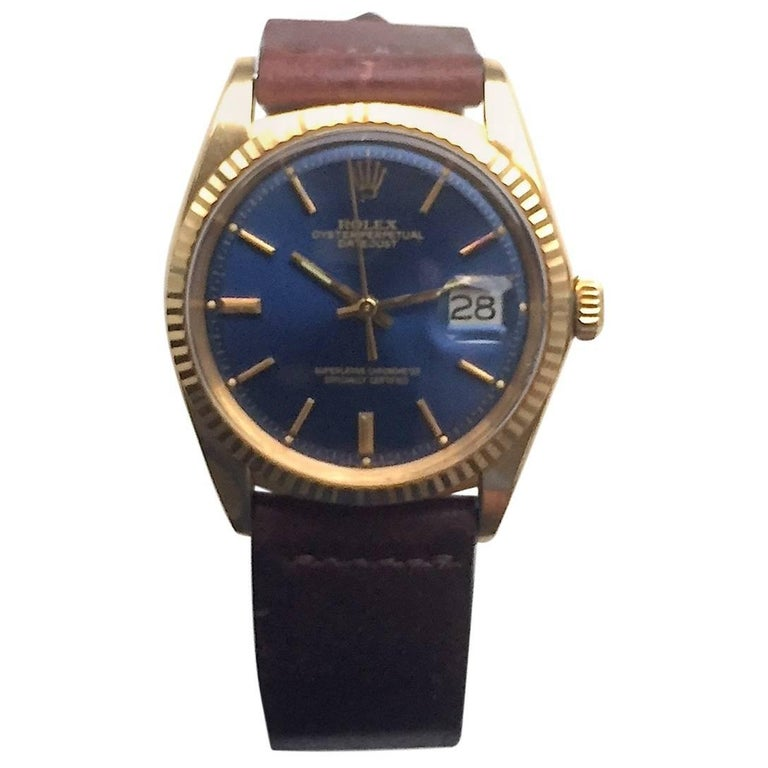 Rolex Yellow Gold Oyster Perpetual Datejust Automatic Wristwatch, 1970s