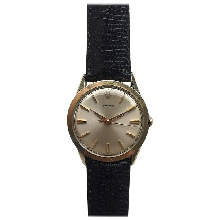 Rolex 1960s 14 Karat Gold Filled Manual Wind Wristwatch with Box and Papers