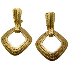 Buccellati Quadrangle Gold Earrings