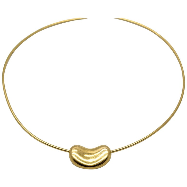 Elsa Peretti Tiffany & Co. Gold Bean Necklace