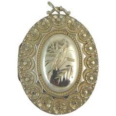 Victorian Silver Locket Hallmarked Birmingham, 1884