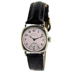 Vacheron Constantin White Gold Cushion Shaped Art Deco Manual Wristwatch