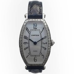 Cartier Paris Ladies White Gold Diamond Manual Wind Wristwatch
