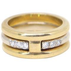 1970s Aldo Cipullo 18 Karat Gold and Diamond Wedding Ring Set