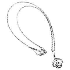Cartier Diamond I Love You White Gold Charm Pendant Necklace