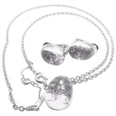 Myst de Cartier Rock Crystal Diamond White Gold Set of Necklace and Earrings