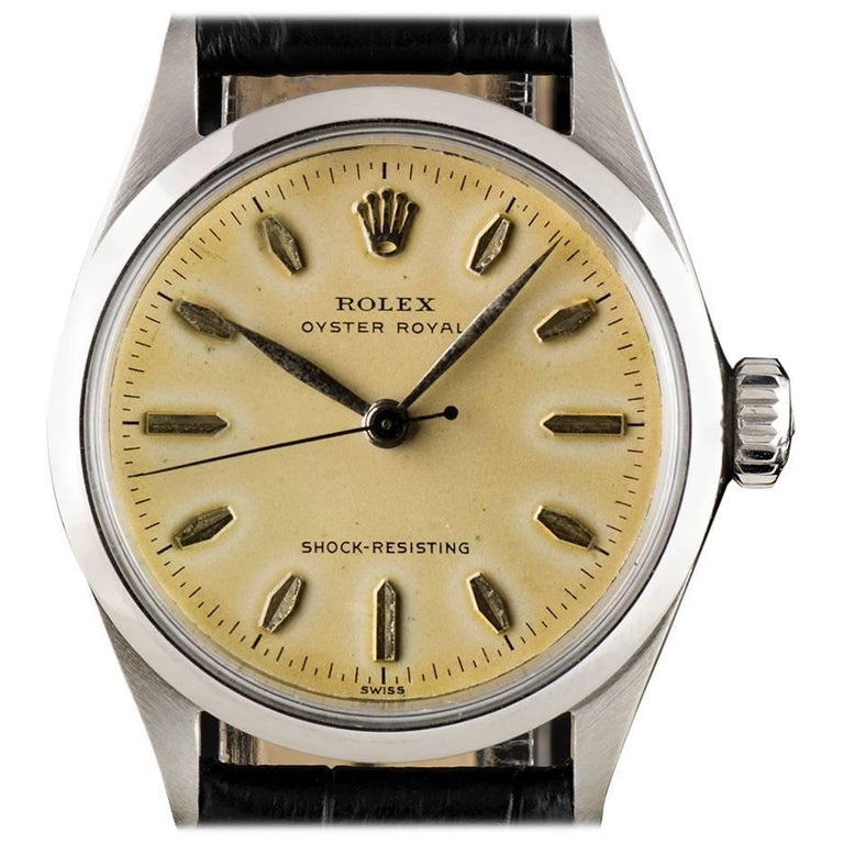 Rolex Stainless Steel Oyster Royal Shock Resisting Manual Wind Wristwatch
