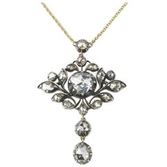 Georgian Rose-Cut Diamond Pendant