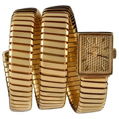 Bulgari Ladies Yellow Gold Serpenti Tubogas Wristwatch, circa 1970
