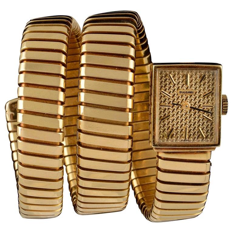 Bulgari Ladies Yellow Gold Serpenti Tubogas Wristwatch, circa 1970 1