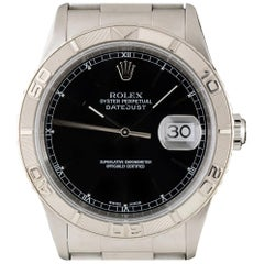 Rolex Datejust Turn-o-graph Gents Steel Black Dial 16264