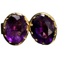 Georgian Amethyst Stud Earrings, circa 1830