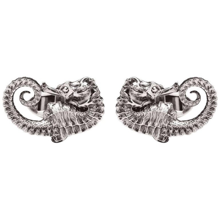 Seahorse Sterling Silver Cufflinks