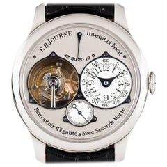 F.P. Journe Platinum Tourbillon Souveraine Dead Beat Seconds Manual Wristwatch