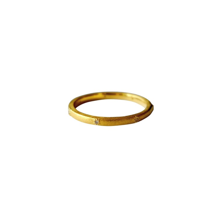 Luca Jouel Champagne Diamond Yellow Gold Aster Ring