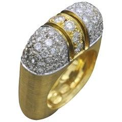 Diamond and Yellow Gold Designer Ring