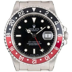 Rolex Stainless Steel GMT-Master II Black Dial Coke Bezel Automatic Wristwatch