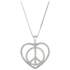 Love and Peace Diamond Necklace
