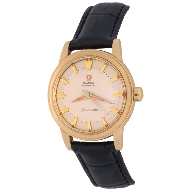 Omega Yellow Gold Seamaster Vintage Automatic Wristwatch, circa 1958