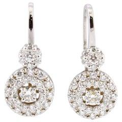 Diamonds White Gold Dangle Earrings
