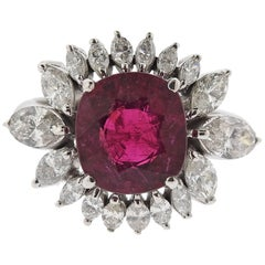 Pink Tourmaline Diamond Gold Cocktail Ring