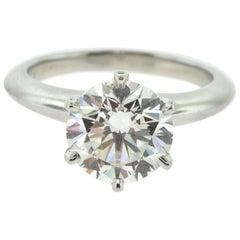 Tiffany & Co. 2.19 Carat Platinum Diamond Engagement Ring