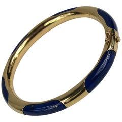 Gump's Lapis Lazuli Gold Bangle Bracelet
