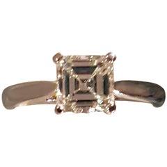 1.4 Carat Solitaire Asscher Cut Diamond Ring I VS1