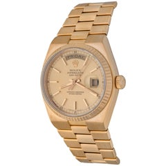 Rolex Yellow Gold President Day-Date Oyster Quartz Wristwatch