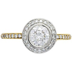 Ritani Micropave Bezel Set Diamond Ring
