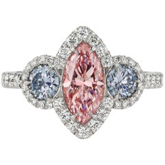 GIA Certified Fancy Color Diamond Ring