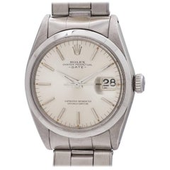 Rolex Stainless Steel Oyster Perpetual Original Dial Date Self Wind Wristwatch
