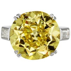 GIA Natural Fancy Intense Yellow Diamond Ring