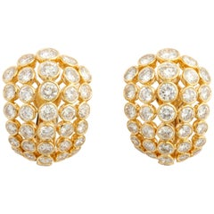 Cartier Diamond Clip-On Earrings