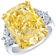 Shreve, Crump & Low 10.52 carat Canary Diamond Engagement Ring