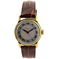 Shreve & Co. Yellow Gold Angelus Screw Back Manual Wristwatch, circa 1950s