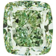 GIA Certified Natural Fancy Intense Green 3.09 Carat SI1 Cushion Cut Diamond