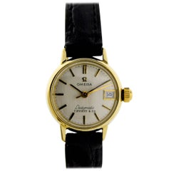 Omega for Tiffany & Co. Ladies Yellow Gold Ladymatic Date Automatic Wristwatch