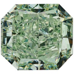 GIA Certified Natural Fancy Green 1.77 Carat VS2 Radiant Cut Diamond