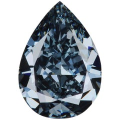 GIA Certified Natural Fancy Deep Greyish Blue 0.70 Carat VS1 Pear Shaped Diamond