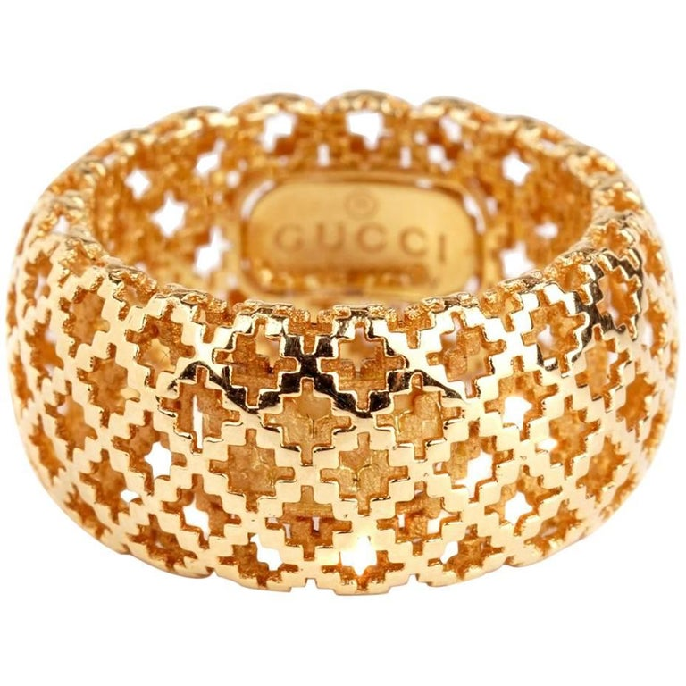 Gucci Diamantissima Gold Open Ring