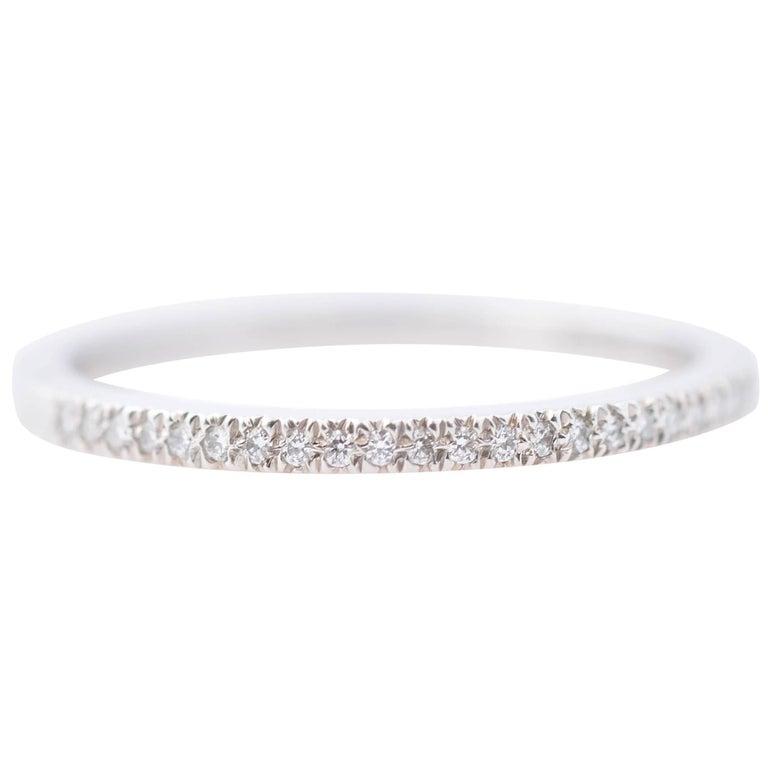 Tiffany and Co. 0.20 Carat Diamond Platinum Band Ring