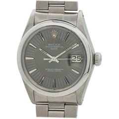 Rolex stainless steel Oyster Perpetual Date Radial Dial Self Winding Wristwatch