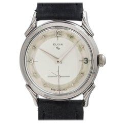 "Lord Elgin Stainless Steel ""LP"" Dress Manual Wristwatch, circa 1950s"