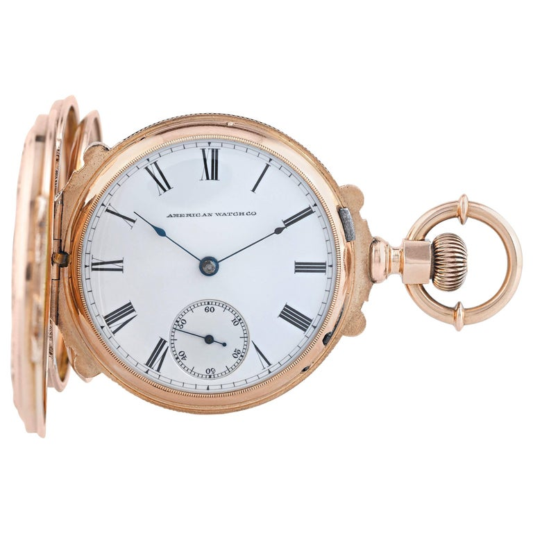 American Watch Co. Multicolored Gold Pocket Watch