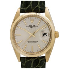 Rolex Yellow Gold Oyster Perpetual Date Automatic Wristwatch Ref 1500, c1967